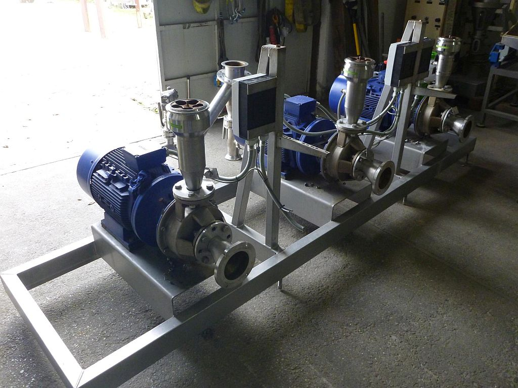 80 m3/h Stainless steel contact parts centrifugal pump KSB